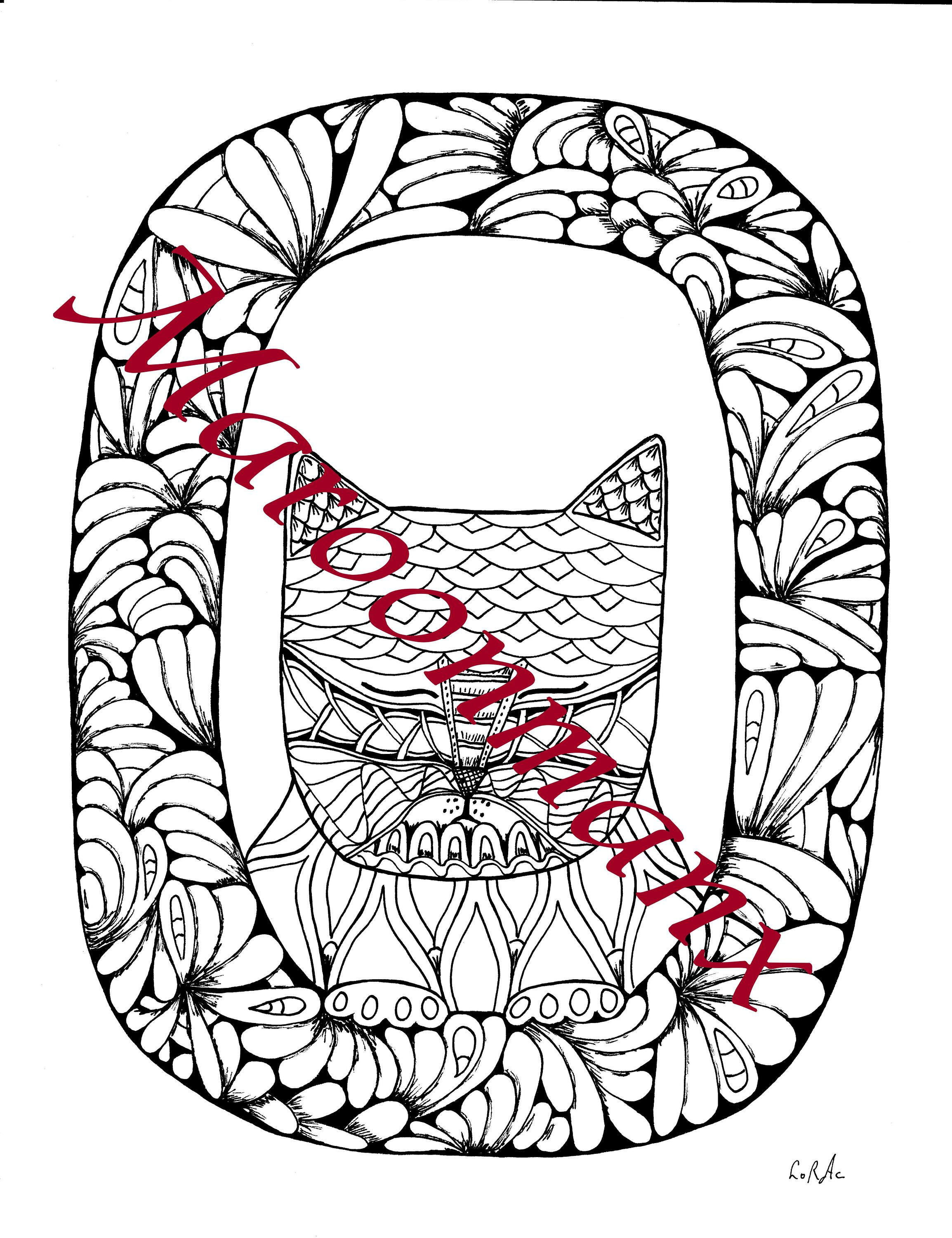 Book colour names - Alphabet Cat Numbers Printable Downloadable Adult Coloring Pages Book Color For Holidays Color Your Name