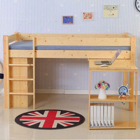 Los niños Camas Para Niños de madera maciza Muebles de media altura ...