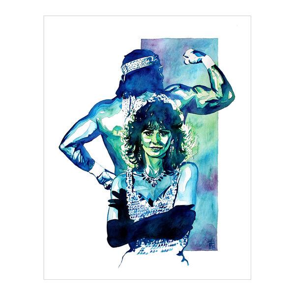 Macho Man & Miss Elizabeth 11 x 14 Rob Schamberger Art