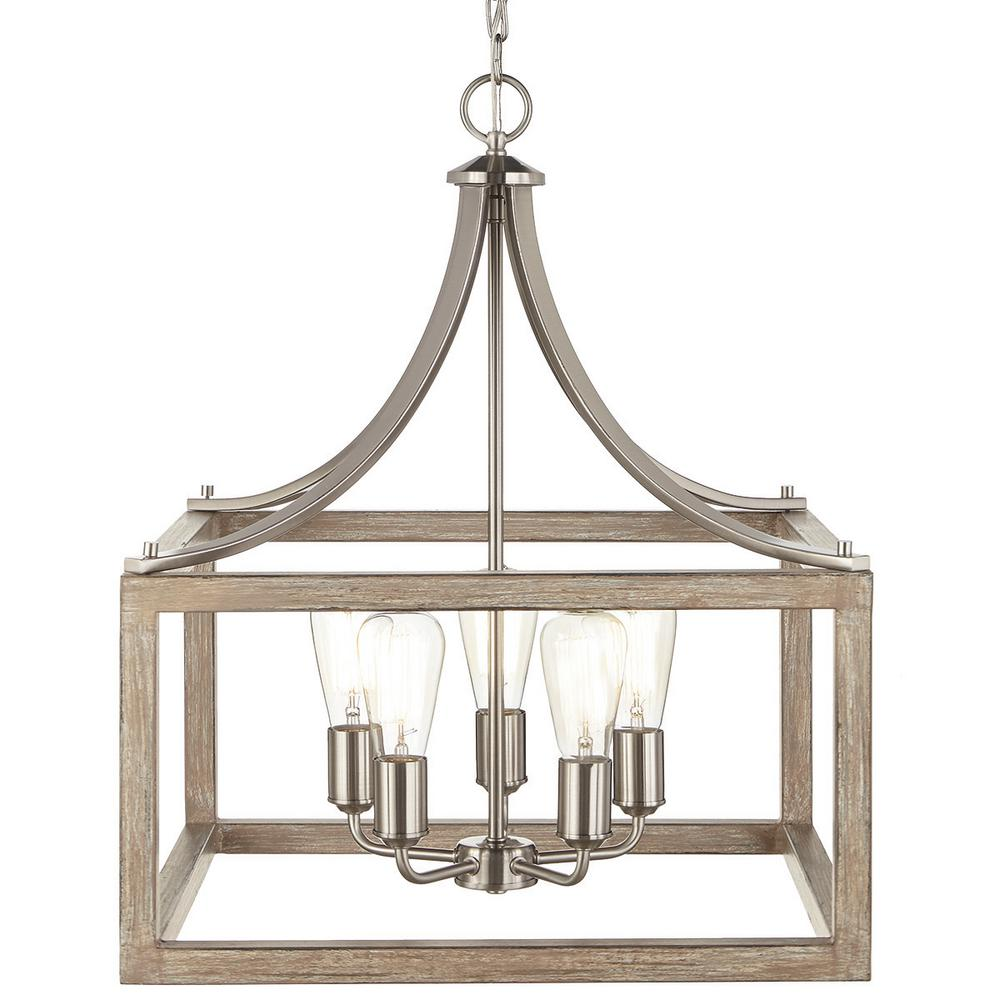 Home Decorators Collection Boswell Quarter 20 In 5 Light Brushed