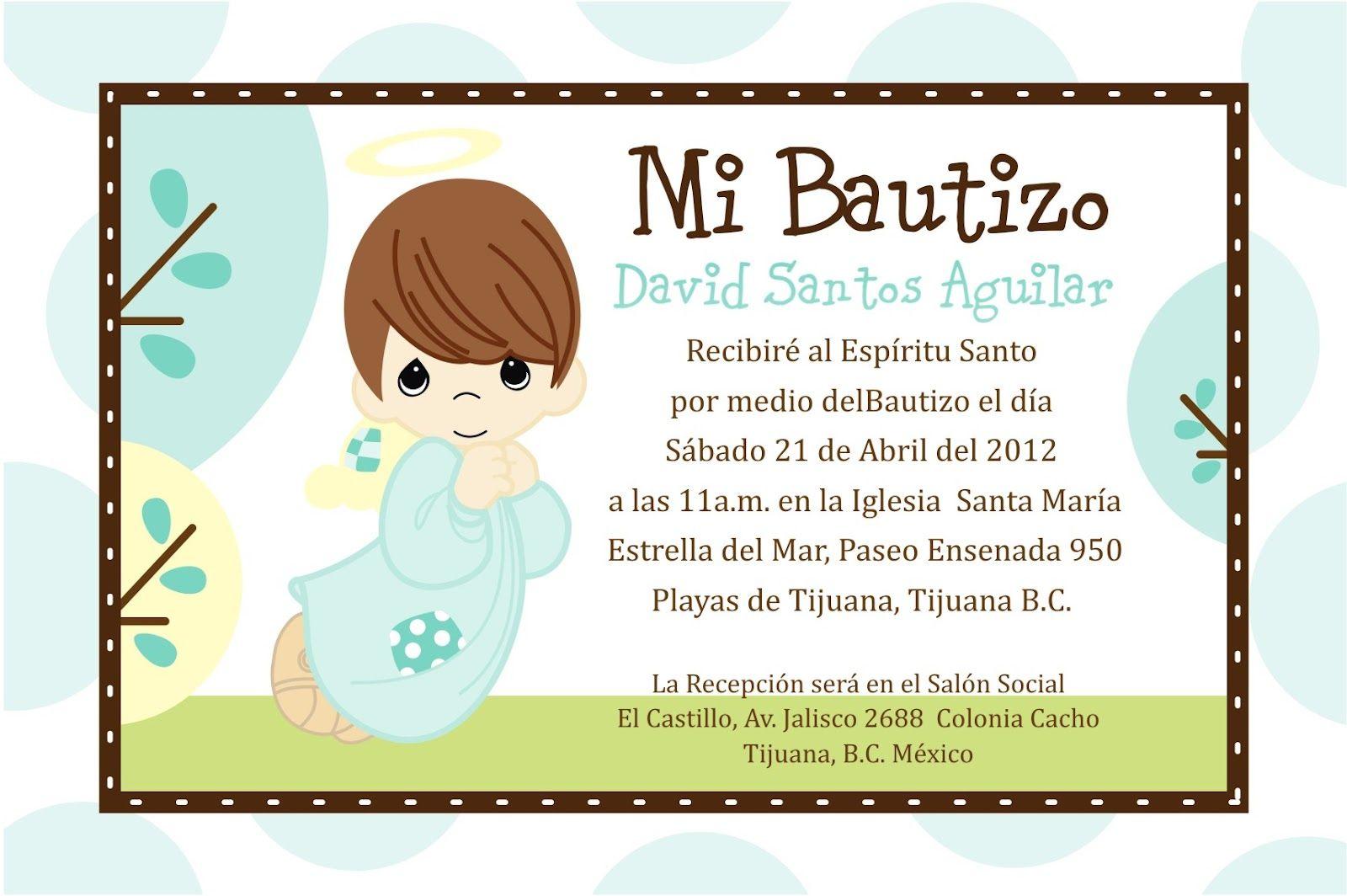 Invitaciones De Bautizo Para Nino Invitaciones Para
