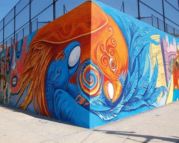 Community Mural New York City Street Guerrilla Art