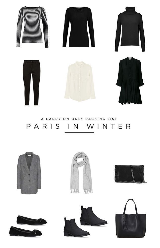 Carry on only packig list Paris | travel light | how to pack carry on only