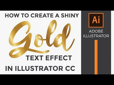 How to make a shiny gold text effect in Adobe Illustrator