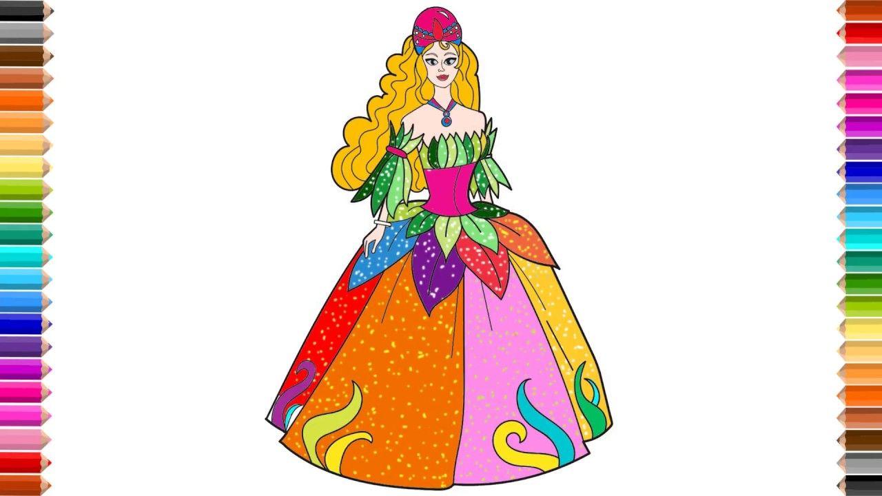 cartoon princess dress drawing