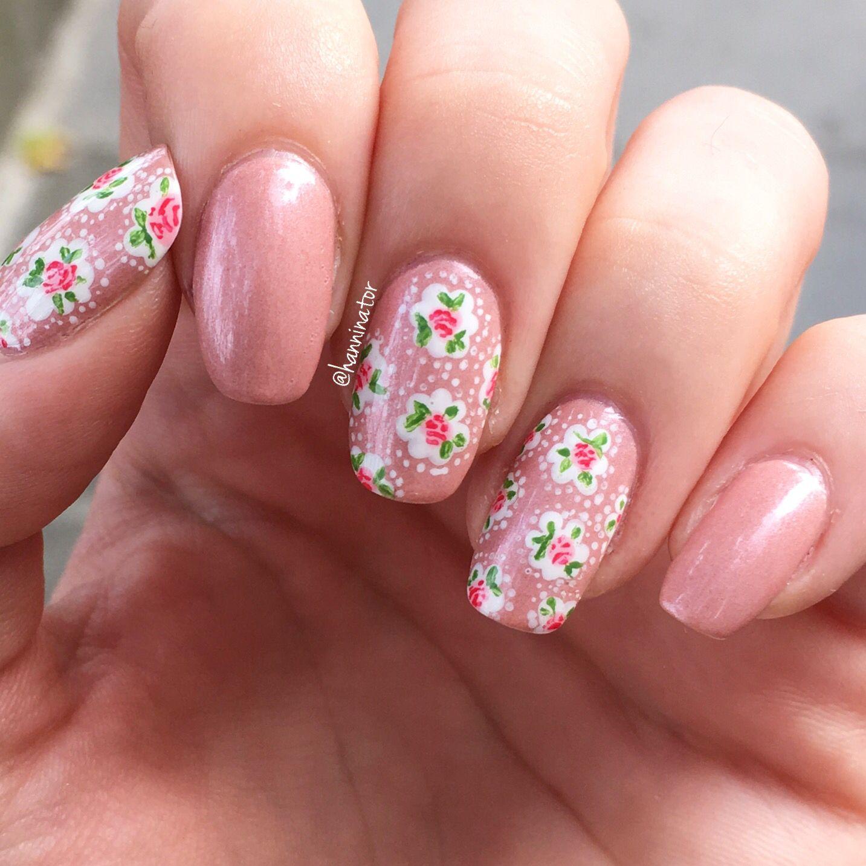 Cath Kidston inspired nails | Nails 7 | Pinterest | Cath kidston