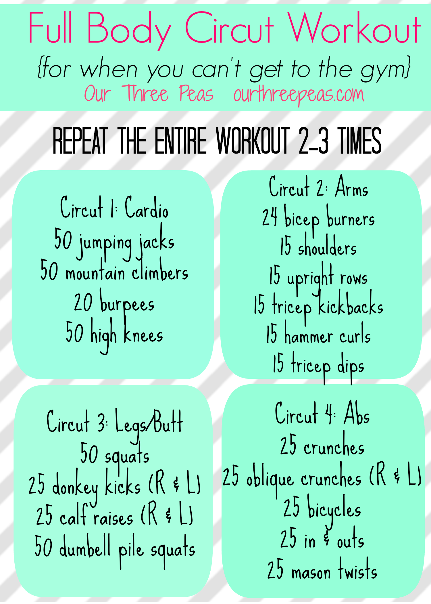 full body circuit workout work it pinterest full body circuit rh pinterest com Cardio Exercises Circuit Training Programs for Men