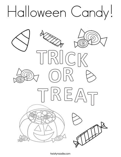 Delightful Halloween Candy Coloring Page   Twisty Noodle Design