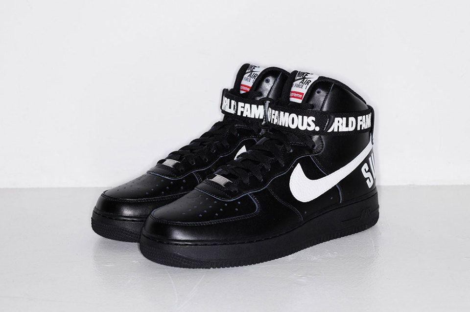 Supreme X Nike Air Force 1 High Highsnobiety Nike Air Force Sneakers Nike Free Shoes