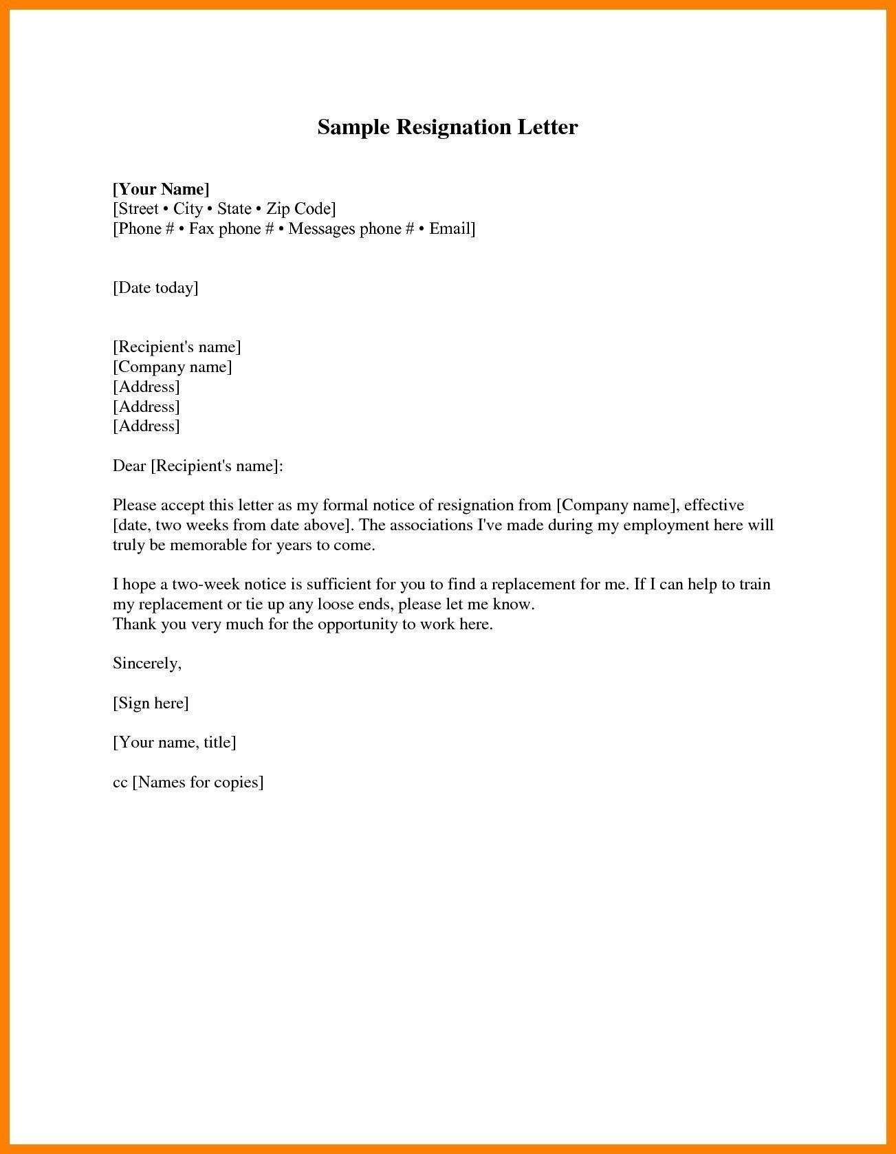Heartfelt Resignation Letter Image Result For Leave Date Replacement Letter  Busns Propsl .