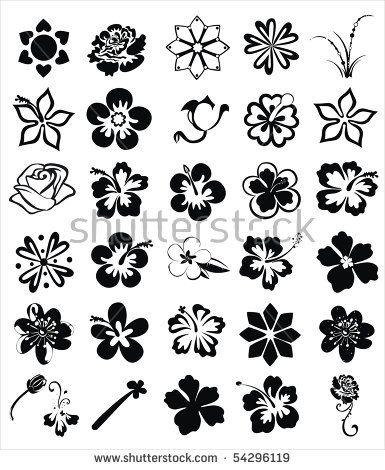Stock Vector Flower Images 54296119 Jpg 385 470 Pixels Flower Drawing Small Flower Tattoos Tropical Flower Tattoos