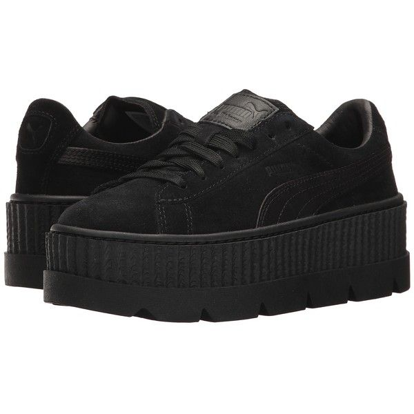 PUMA Cleated Creeper Suede (PUMA Black) Women s Cleated Shoes ( 160) ❤  liked on Polyvore featuring shoes 7fb3ee818