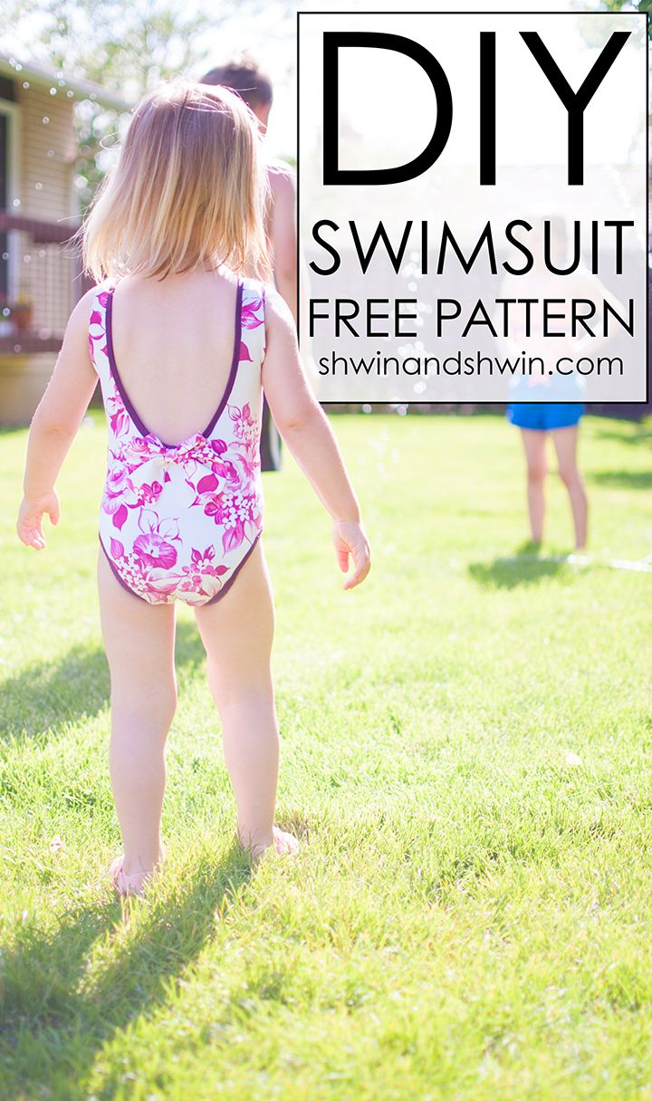 DIY Swimsuit || FREE PDF Pattern || Shwin&Shwin | Free Sewing ...