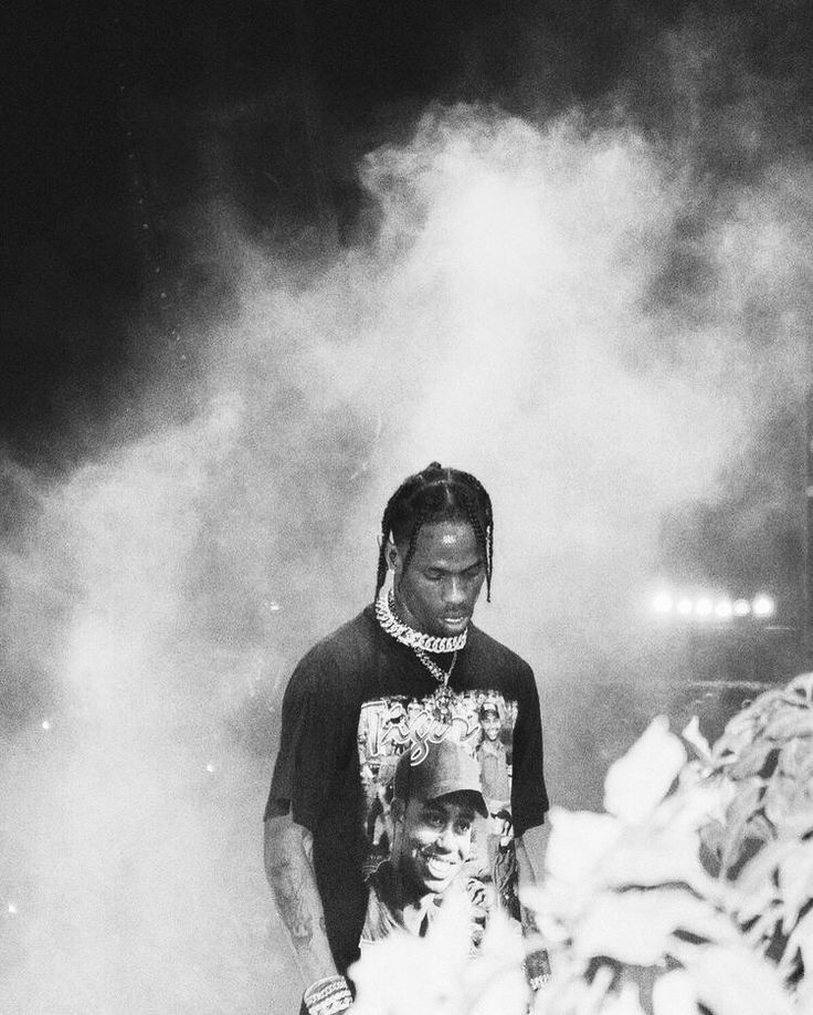 Black And White Travis Scott In 2020 Black And White Picture Wall Black And White Aesthetic Travis Scott Wallpapers