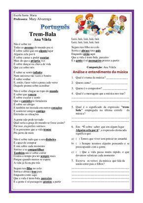 Trem Bala Atividades De Poesia Atividades De Gramatica