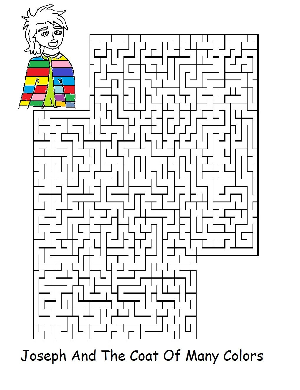 Printable coloring pages joseph coat - Joseph And The Coat Of Many Colors Sunday School Lesson