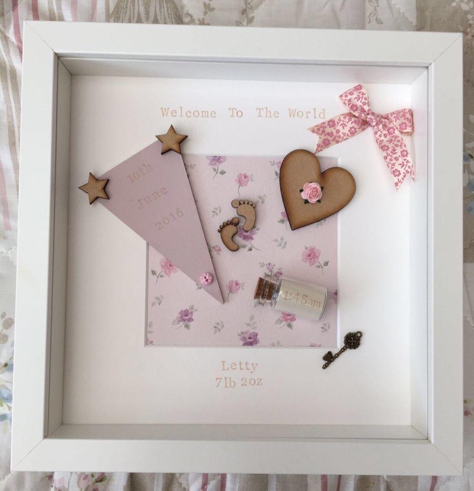 Personalised new baby birth christening boy girl frames personalised new baby birth christening boy girl frames giftkeepsake negle Image collections
