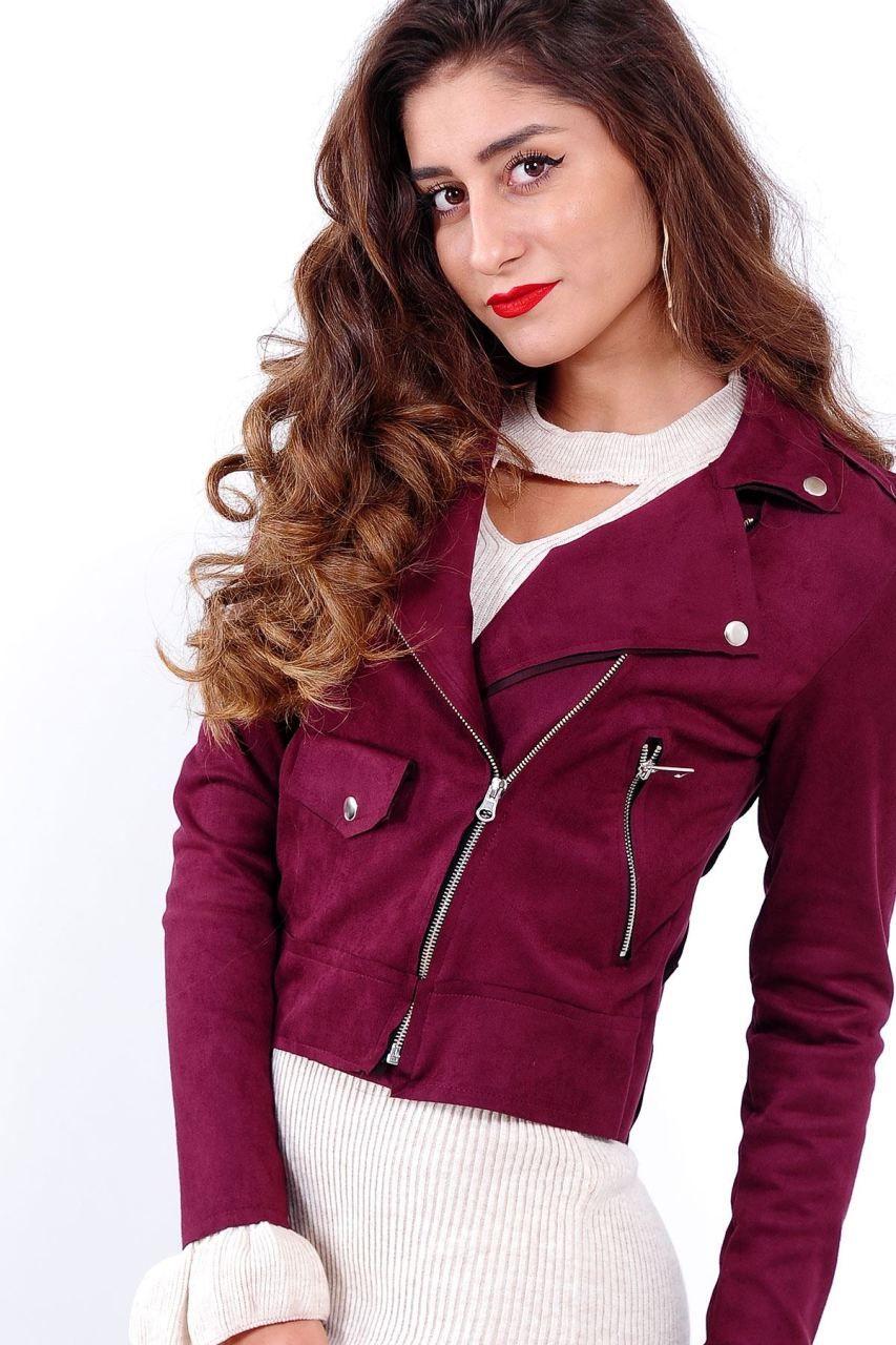 3068b025c03bf Fermuar Detay Mürdüm Süet Ceket #giyim #indirim #kampanya #bayan #erkek  #bluz #gömlek #trençkot #hırka #etek #yelek #mont #kaşe #kaban #elbise # abiye ...