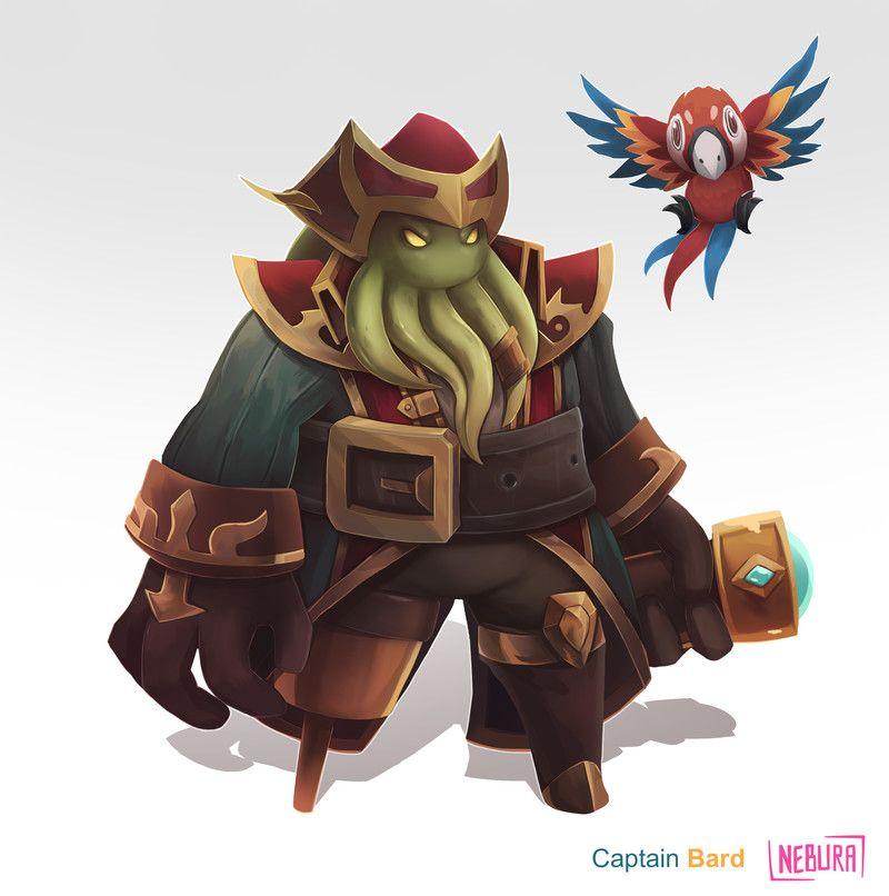 Artstation Captain Bard Nebura Art League Of Legends League Of Legends Characters Fantasy Character Design