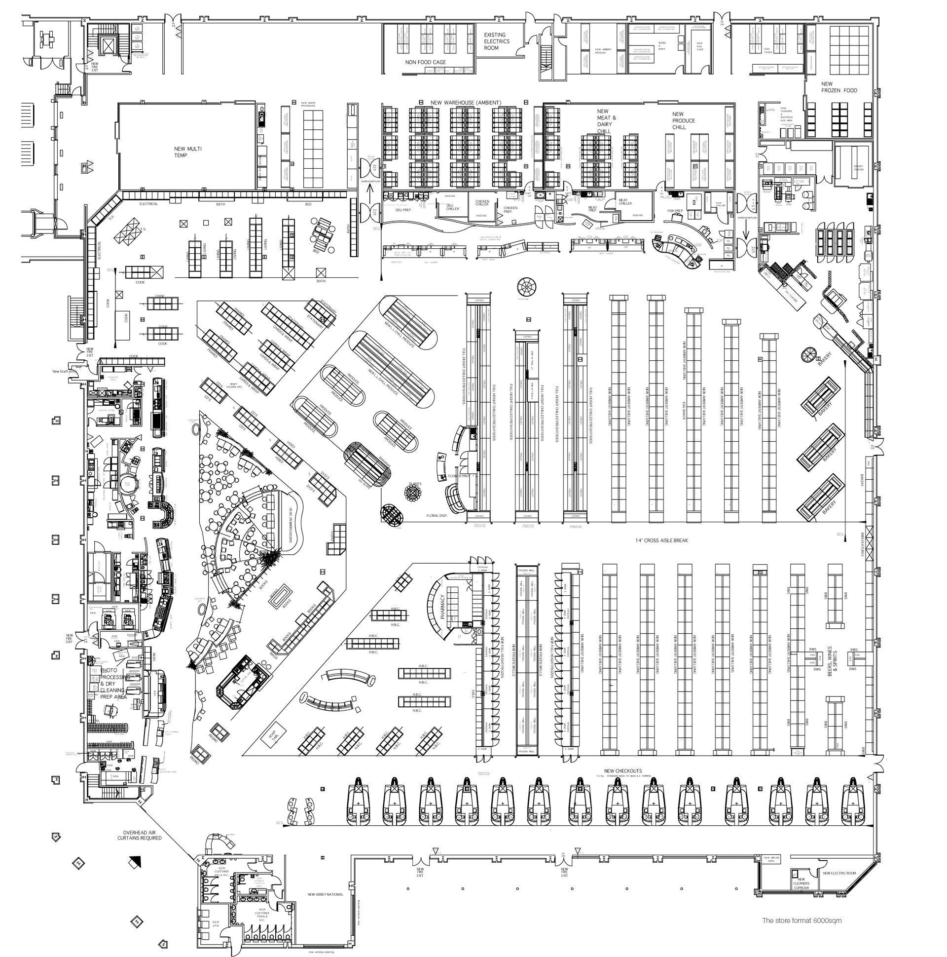 Image Result For Supermarket Architecture Plan Design