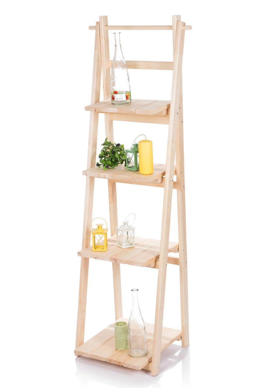 Regal Drabina 150cm Drabinka Stojak Polka Skladana 7397268663 Allegro Pl Bookcase Ladder Bookcase Home Decor