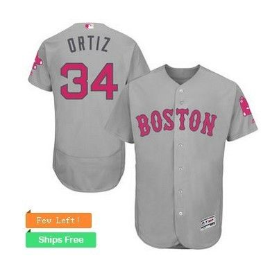 boston red sox 34 david ortiz gary home 2016 mothers day cool base jersey