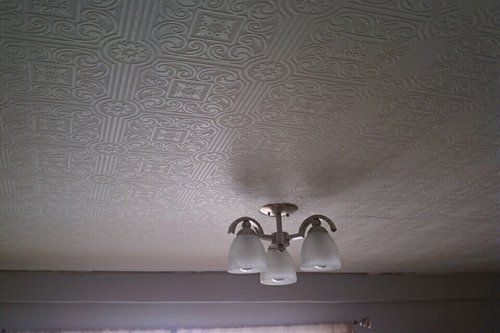 Architectural Tin Ceiling Paintable Wallpaper. on ceiling