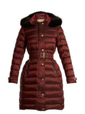Click here to buy Burberry Ashmore fur-trimmed quilted down coat at MATCHESFASHION.COM ショッピング, 服, コート, Polyvore, ラップ, 衣類