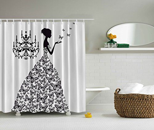 Bathroom Accessories Madame Butterfly Black Chandelier Black Butterfly Princess Wedding Gown Butterfly Skirt Attractive Woman Fabric