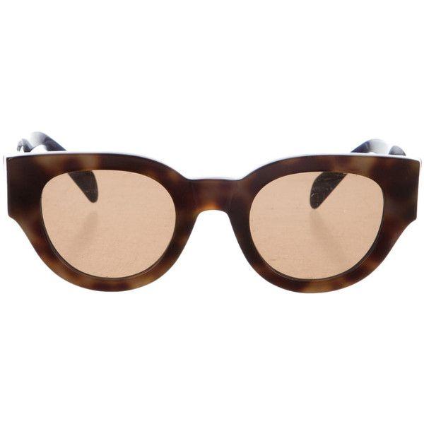 Celine Brown Tortoiseshell Sunglasses (€195) via Polyvore featuring accessories, eyewear et sunglasses