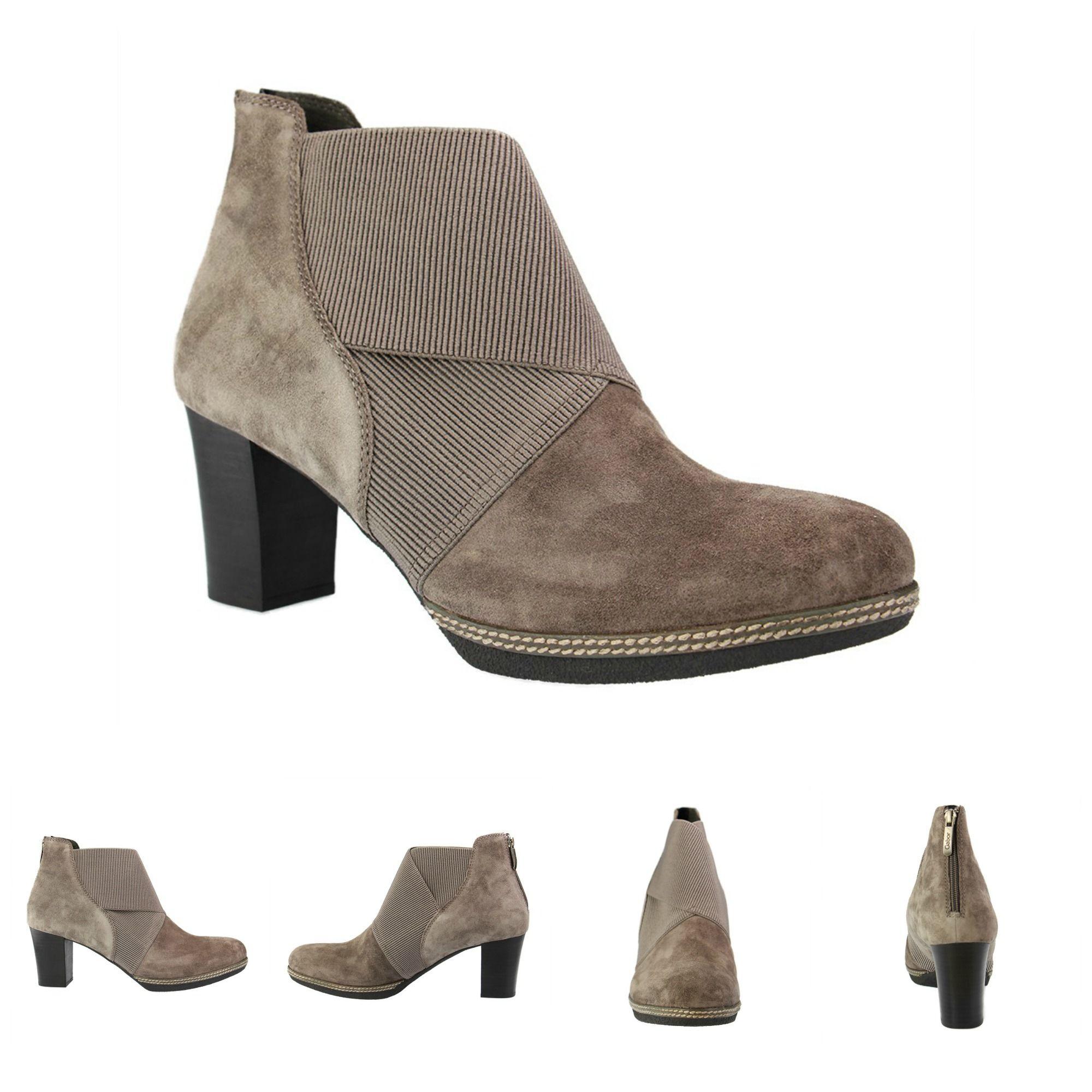 72f32d4c0e Jetzt neu bei SchuhXL: Herbst- Stiefelette für Damen in Übergrößen, Farbe  Grau mit Plateau-Sohle, praktischen Gummizügen und einem Reißverschluss an  der ...