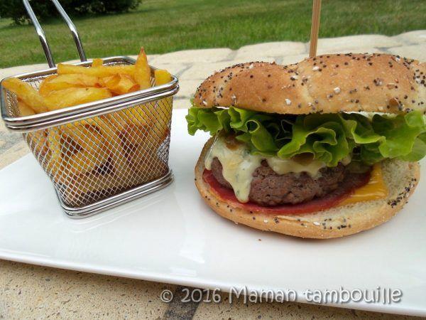 Burger à la Fourme d'Ambert