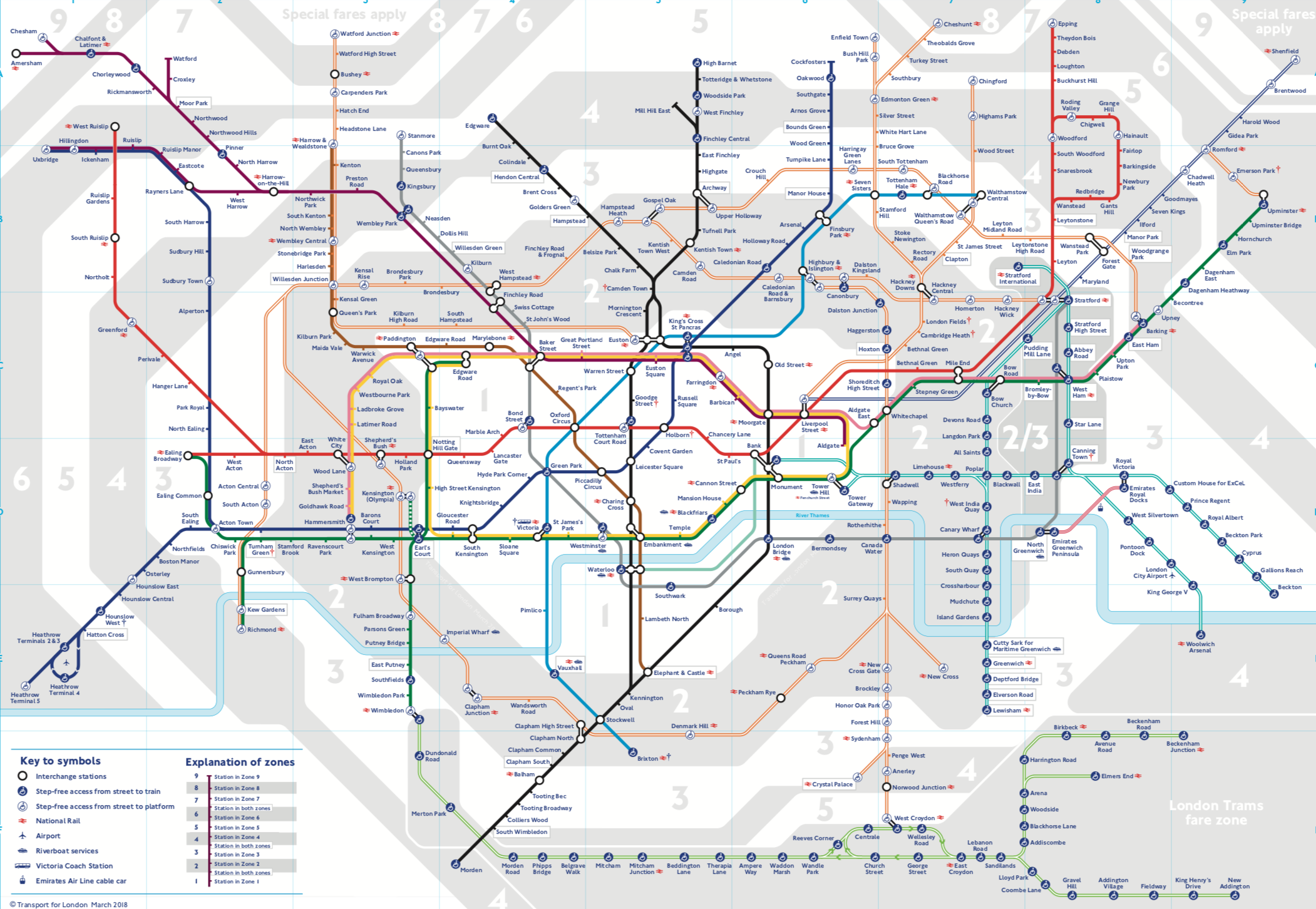 london underground map 2018 govuk available at http