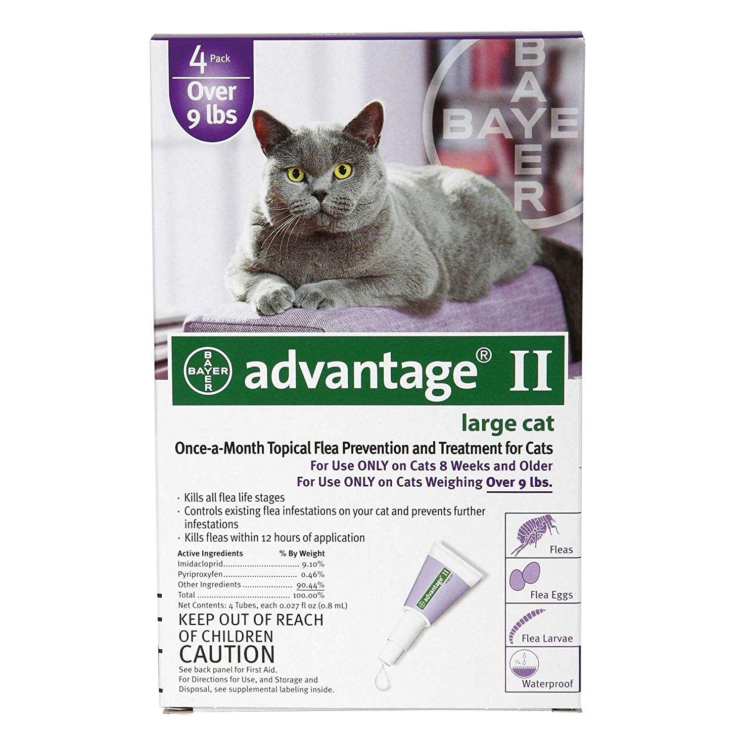 Advantage 2 Flea Control For Cats And Kittens Over 9 Lbs 4 Month
