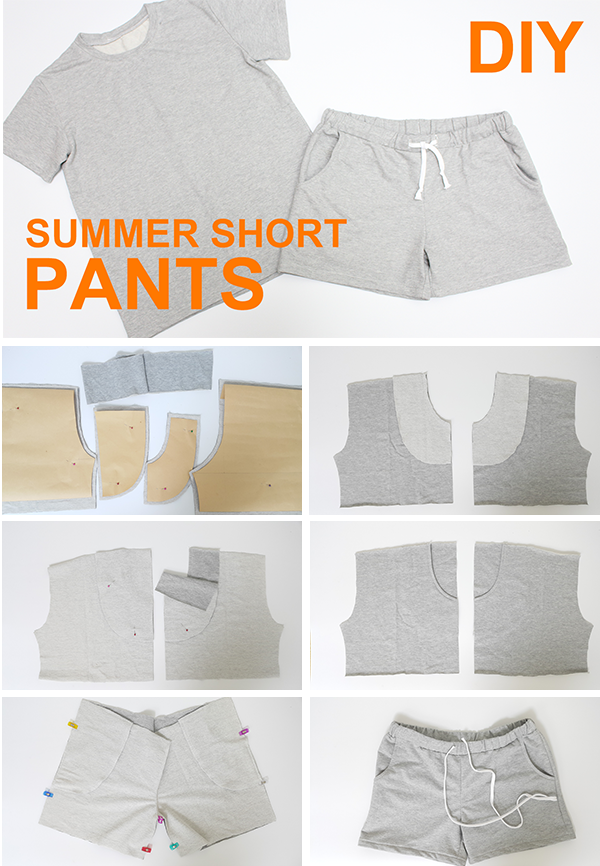 Diy Easy Summer Short Pants How To Draw Sewing Pattern Sewing