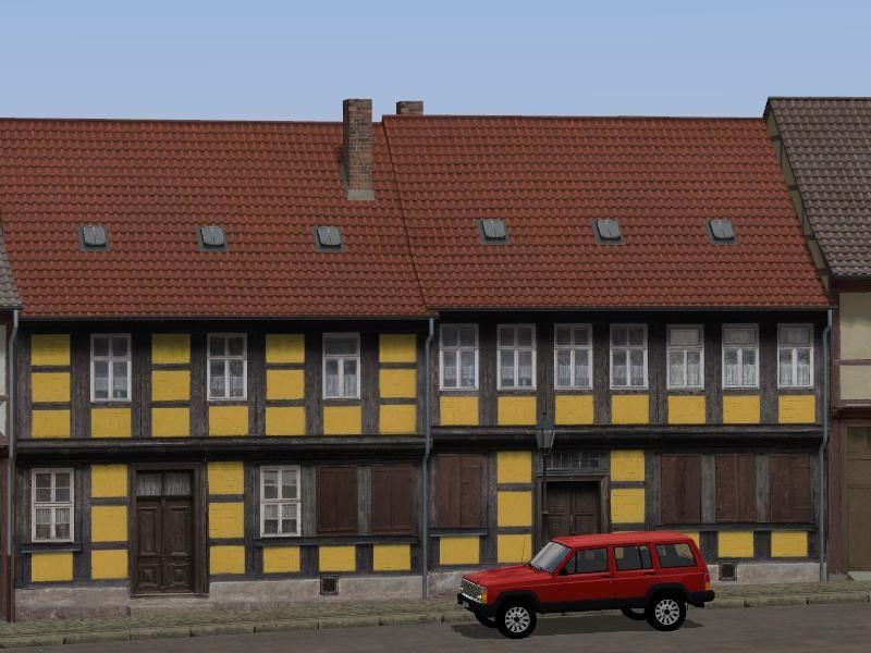 Wohnhäuser mit farbintensiverem Anstrich Set 2- Ab #EEP8 http://bit.ly/Anstrich-Set2