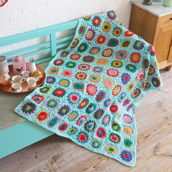 Partner 6 Granny Square Deken Haakpakket Crochet Blankets Breien