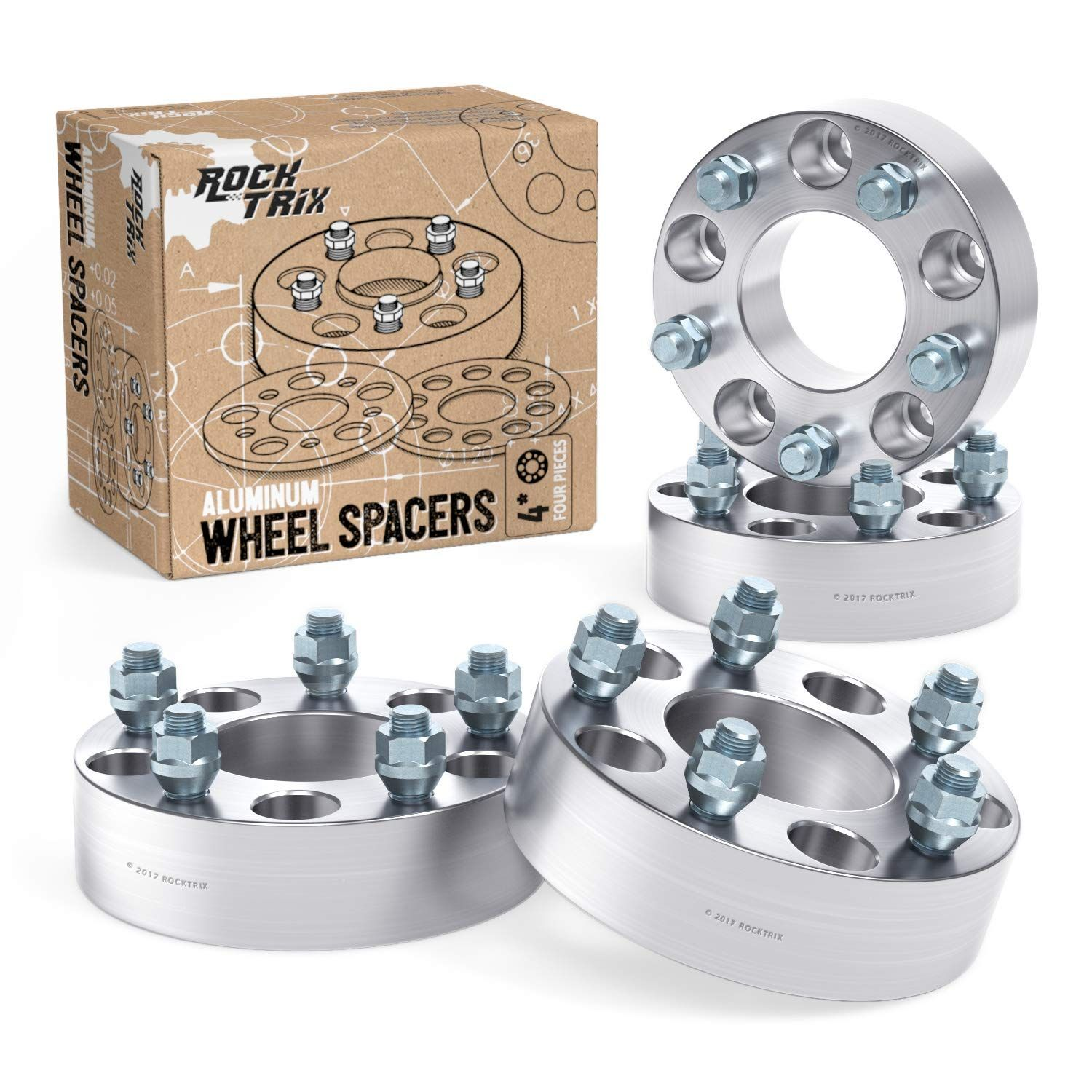 4pc Wheel Spacers 2 Thick 5x5 5 To 5x5 5 Bolt Pattern With 1 2 Studs For Dodge Ram 1500 Ford F100 F150 E100 E150 Br Bolt Pattern Ram 1500 Dodge Dakota