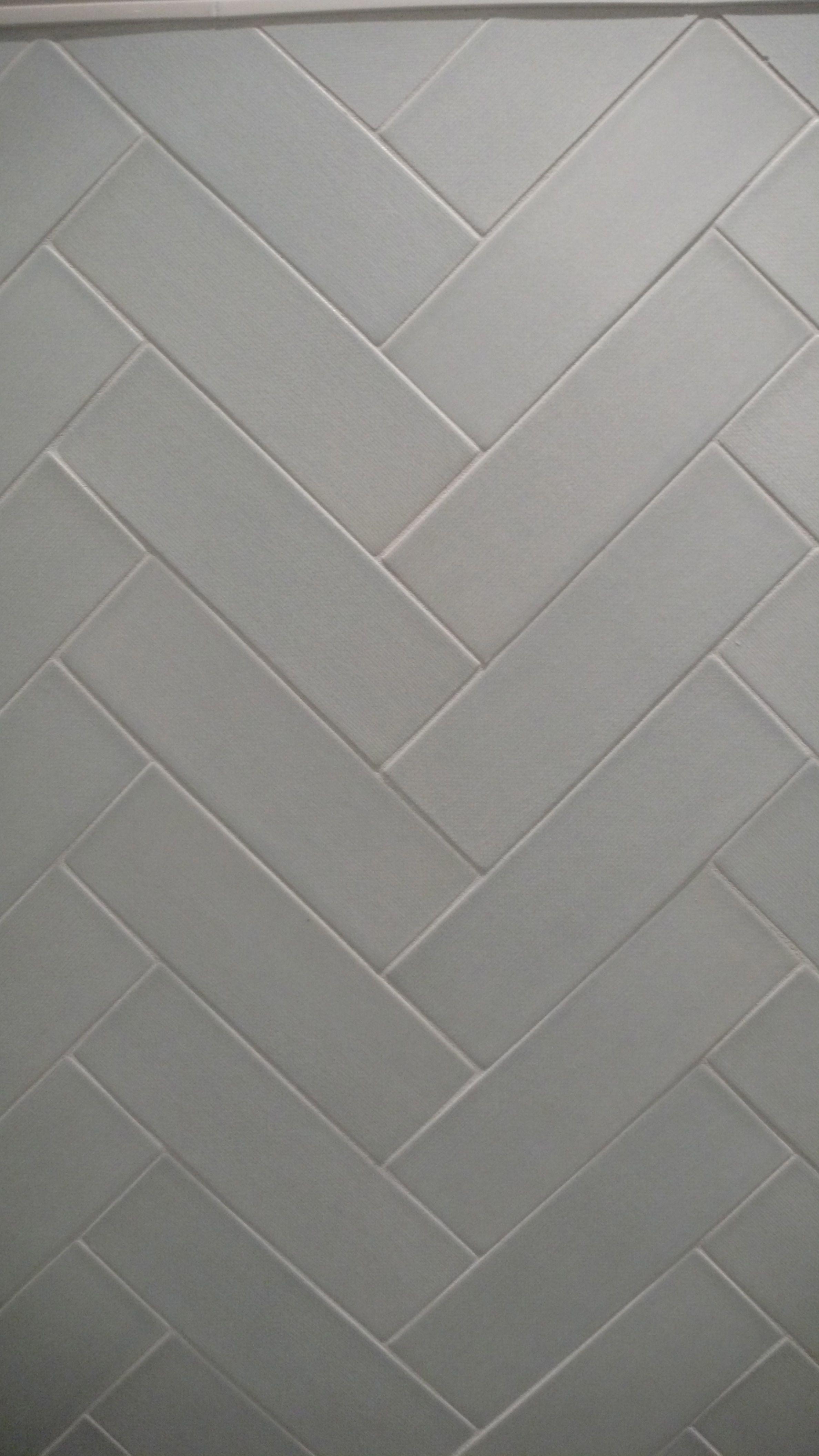 Field Tile 3 X 9 In Sea Laid Out In Herringbone Style Bathroom Decor Luxury Bathroom Decor Themes Herringbone Tile