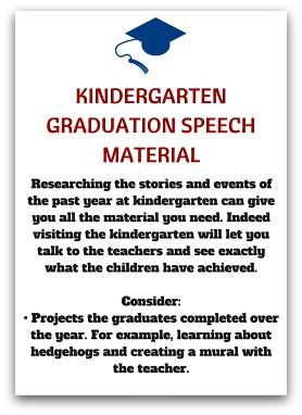 kindergarten speeches material | Kindergarten Graduation ...