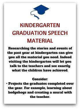 Kindergarten Speeches Material Kindergarten Graduation Speech Graduation Speech Kindergarten Graduation