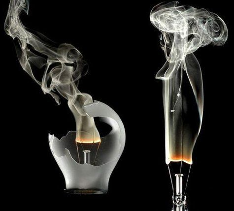 burning lightbulb