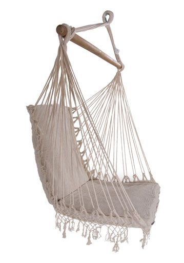 Brazilian Woven Cotton Padded Hammock Chair With Tassels Macrame Hanging Chair Hammock Chair Hamock Chair