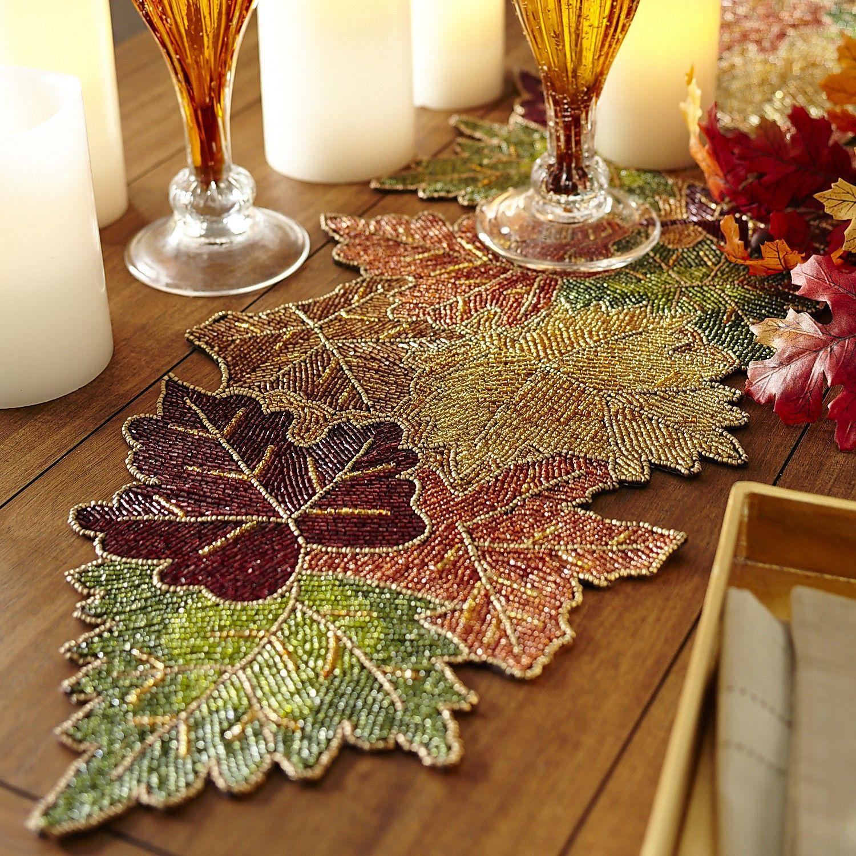 Beaded Leaves Table Runner | Pier 1 Imports