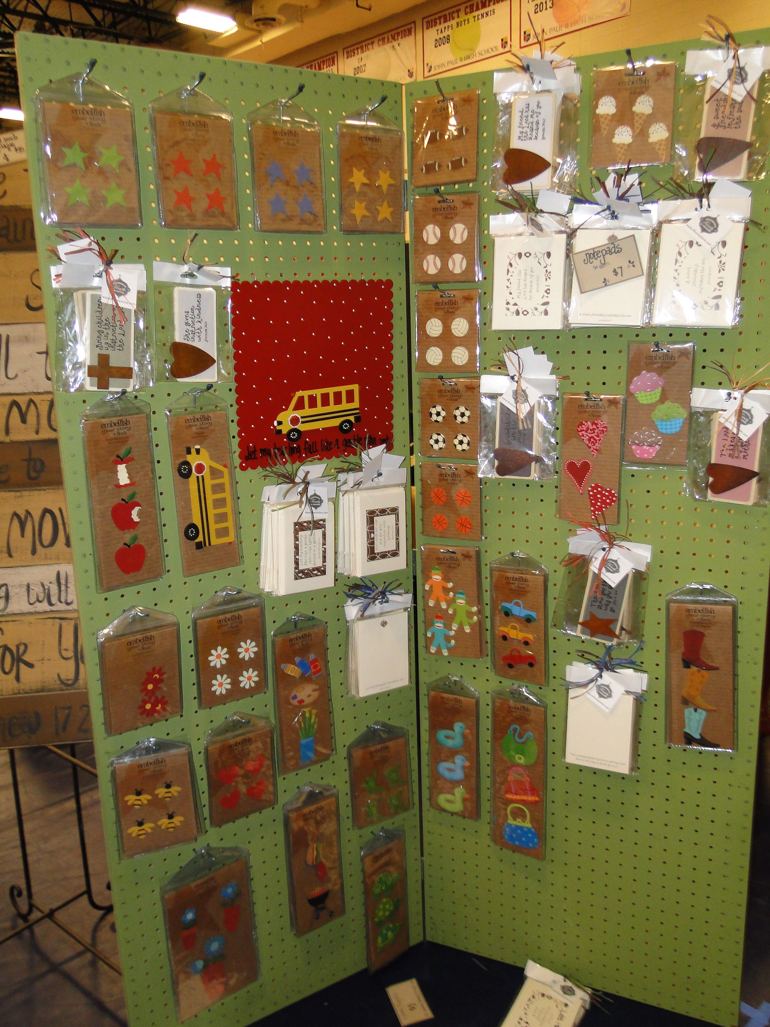 Saw this pegboard display easy to make craft show ideas for Art craft shows