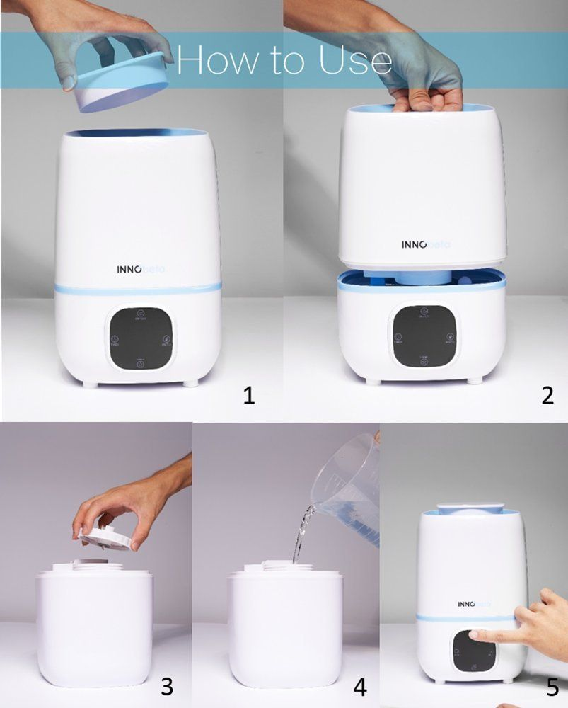 3l Humidifier Nursery Desk Office Gauge Cool Mist Babyroom