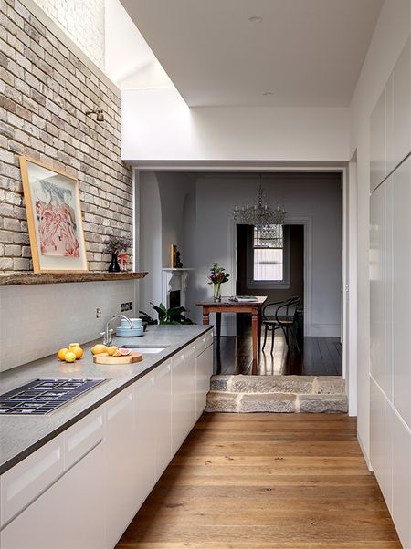 Kitchen Ideas Long Narrow home-dzine - kitchen goes from dark and dingy to light and mod