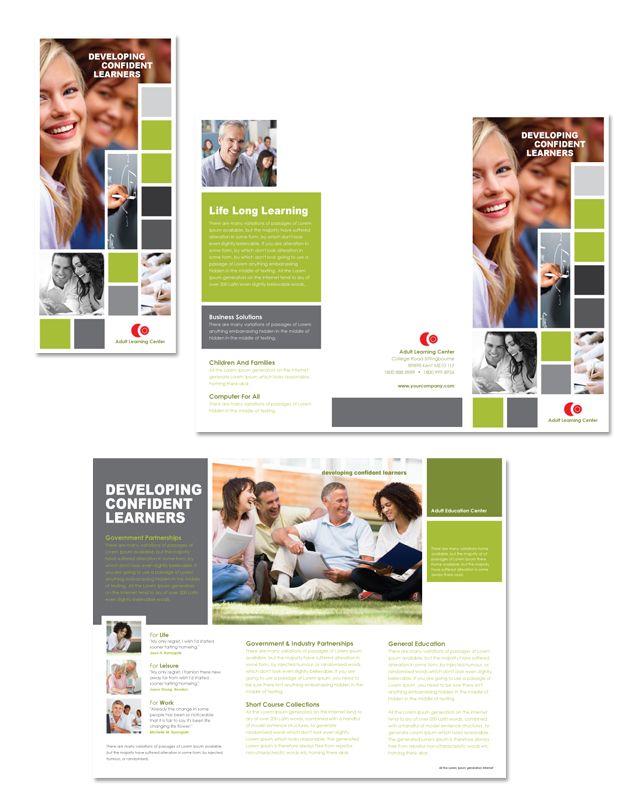 Adult Education Tri Fold Brochure Template Httpwwwdlayoutscom - Education brochure templates