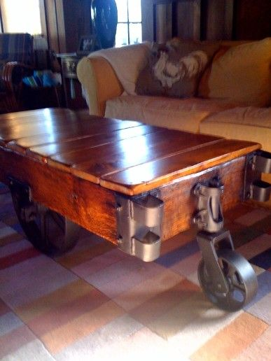 Reclaimed Factory Cart Table From Restoration Hardware Factory Cart