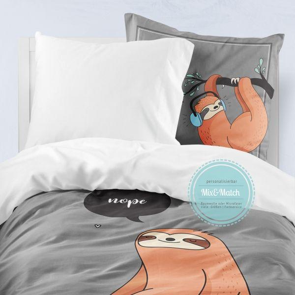 Bettwäsche Für Jungs Teenager Faultier Microfaser